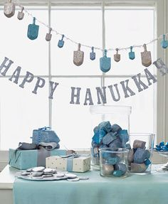 Happy Hanukkah decorations