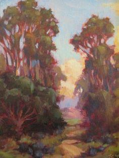 Kevin Yuen California Plein Air Eucalyptus Landscape Impressionism Oil Painting