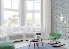 Räume mit Erker lassen sich mit helleren Farben in Szene setzen