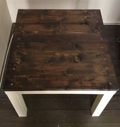 I've had an Ikea Lack side table for a few years and recently decided to give it an update! For about $30 (less if you already have some of the supplies) I turned this simple Ikea table into a shab...