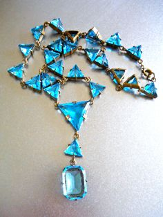 Hey, I found this really awesome Etsy listing at https://www.etsy.com/listing/215768895/aqua-blue-czech-necklace-art-deco-y