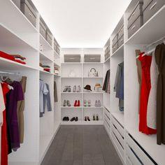 Luxury Ankleidezimmer in kleinem Raum