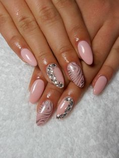 #pretty #pastel #pink #silver #strass #simple #but #beautiful