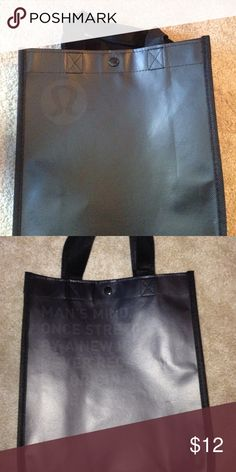 Limited Edition Lululemon Tote Has subtle Oliver Wilde Quote on the back lululemon athletica Bags Totes