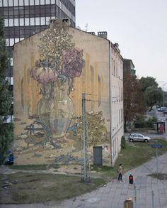 Aryz New Mural In Lodz, Poland StreetArtNews