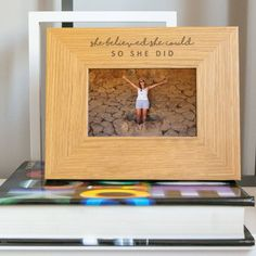 'She Believed She Could, So She Did' Photo Frame