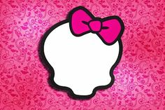 Pink Monster High: Free Printable Invitations.