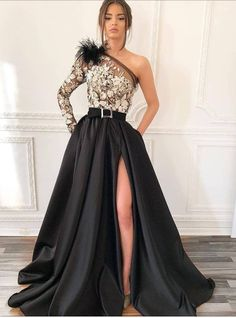 Shop long prom dresses and formal gowns for prom 2019 at Kemedress. Prom ball gowns, long evening dresses, mermaid prom dresses, long dresses for prom,body type & fashion sense. Check out selection and find the prom dress of your dreams! Split Prom Dresses, Evening Dresses With Sleeves, Prom Dresses Uk, Prom Dresses Long With Sleeves, Sexy Dresses, Beautiful Dresses, Dress Long, Summer Dresses, Wedding Dresses