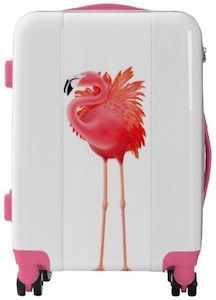 Pink Flamingo Suitcase
