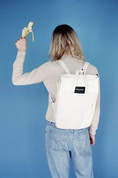 Handle Backpack 01 Off White