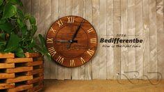 Wooden clock with silent mechanism!decoration home,craft, design, Wall clock, birthday, keepsake, gift,bedifferentbe de BEDIFFERENTBE en Etsy
