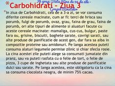 Carbohidrati - ziua 3 Rina Diet, The Cure, Food And Drink, Health Fitness, Lose Weight, Healthy, Excercise, Drawings, Living Room