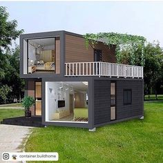 35 Best Shipping Container House Ideas- 2020 - Page 30 of 35 - coloredbikinis. Tiny House Cabin, Tiny House Living, Tiny House Plans, Contener House, Small House Design, Modern House Design, Modern Tiny House, Building A Container Home, Container Cabin