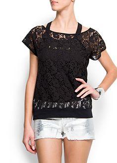 Lace t-shirt by Mango