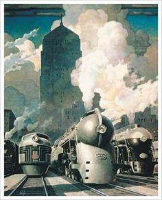 New York Central System Art Giclee Print