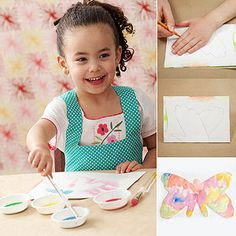 This beautiful butterfly captures the shape and size of your child's hands.