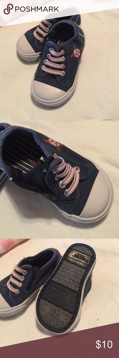 Baseball themed adorable comfy tennis! No laces ever need to be tied, as zipper closure on inside of shoe see 2nd photo Smart Fit Shirts & Tops