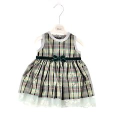 Dress MADRAS FIORITO - Girl - Autumn/Winter 2011-2012 - Dress/Jampsuit - Girl fashion clothing Girl fashion baby - Monnalisa Dreams