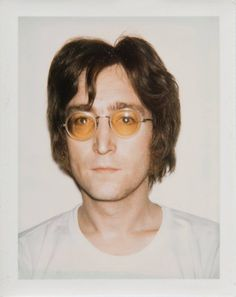 John Lennon, my hair looks like this in the morning... i can so do this