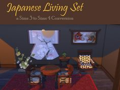 Japanese Living Set at Leander Belgraves via Sims 4 Updates