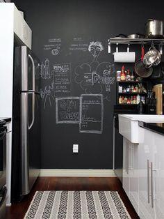 Paredes Cocina | Paredes De Pizarra En La Cocina La Inspiracion Que Necesitas