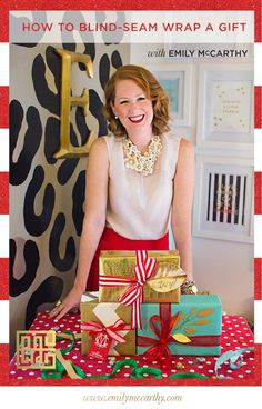How to Blind-Seam Wrap a Gift by Emily McCarthy - Photos by Izzy Hudgins