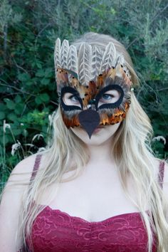 ALDER. Ooak Feather Bird Mask. Real Feather Mask. by PiquantPieces