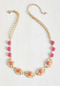 I'll Glitz You, My Pretty! Necklace. Some advice for debuting this golden necklace? #orange #modcloth