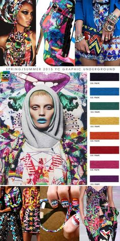 Spring Summer 2015, women's color trend report, graphic underground