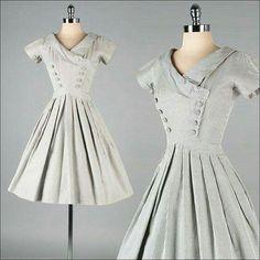 Grey dress 50's                                                                                                                                                                                 More