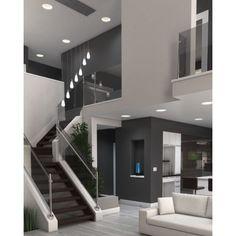 "Tech Lighting 700MPLST-LEDS930 Lustra Single Light 3-11/16"" Wide LED Mini Pendan Satin Nickel / White Shade Indoor Lighting Pendants Bathroom Lighting, Exterior, Contemporary, Mirror, Architecture, Furniture, Home Decor, Homemade Home Decor, Outdoors"