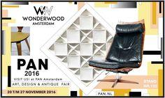 Visit WonderWood at PAN Amsterdam Antique Fairs, Art Fair, Vintage Furniture, Amsterdam, Dutch, Modern Art, Yellow, Antiques, Design