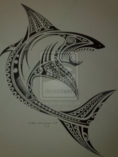ANOTHER SHARKIE FOR ADDING TO MY POLYNESIAN TATTOO SLEEVE