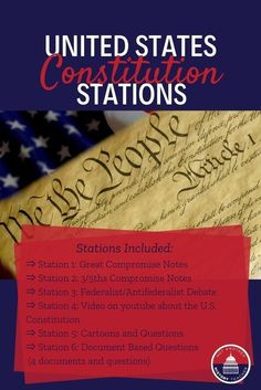 This is ready to use station lessons on the founding on the Constitution. Just print the stations in color and go! Each station is designed to get your kids critically analyzing the past, interpreting history, and gets them out there seats. This lesson will take a full 55 minutes and is a print and go lesson. I have used this lesson with 7th grade to 12th grade!! It makes class time go so fast.