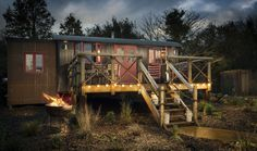 Sundance - Step inside this Wild West inspired luxury self-catering wagon for the ultimate Unique Home Stays shed experience - Nr Watergate Bay, Cornwall, United Kingdom - 33 photos : uniquehomestays Huts On The Ocean, Dog Friendly Holidays, Luxury Glamping, Vacation Resorts, Honeymoon Destinations, Vacations, Micro House, Unusual Homes, Ranch Style