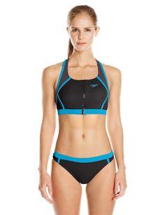 Amazon.com : Speedo Women's Endurance Lite Perforated Two Piece Bikini Set : Sports & Outdoors