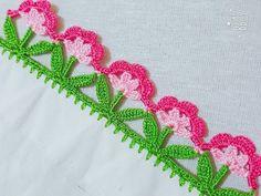 "Example for ""Oya""! Crochet Edging Patterns, Crochet Borders, Crochet Stitches, Hand Embroidery Videos, Hand Embroidery Designs, Embroidery Patterns, Chevron Crochet, Easy Crochet, Crochet Lace"