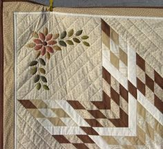 Ulla's Quilt World: Quilted wall hanging, Houses and flowers pattern