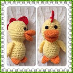 Cute little crochet chick.