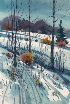 Donald Maier - Snowy Hillside
