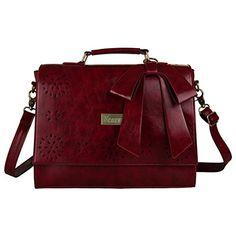 Ecosusi Women Large Vintage Leather Saddle Messenger Bag Lady Top Handle Briefcase Handbag Satchel (Red) Ecosusi http://www.amazon.com/dp/B00J5YMYPQ/ref=cm_sw_r_pi_dp_1lZIub0XD896S