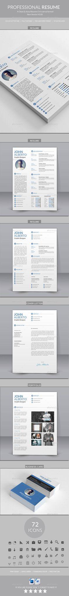 Blue And Black Resume  Skins  Clean Design