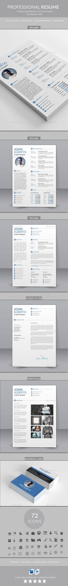 Resume / CV Creative, Template and Creative resume - cv vs resume