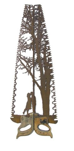 This art is made out of a saw