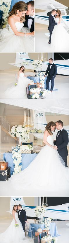 Fly Away with Me! Modern Aviation Wedding Inspiration
