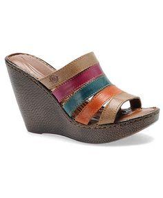 Born Shoes, Lumi Wedge Sandals
