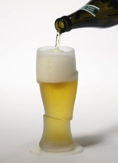 Surreal Sliced Beer Glasses - These Frosted Beer Pints Give Off Quite the Illusion (GALLERY)