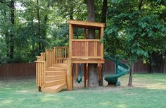From simple tree house plans for kids to the big ones for adult that you can live in. If you're looking for tree house design ideas. Find and save ideas about Tree house designs. Backyard Playground, Backyard For Kids, Backyard Ideas, Playground Kids, Backyard Camping, Treehouse Masters, Wooden Tree House, Simple Tree House, Tree House Plans