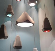iSaloni - Betonowe - Concrete armarmatures | Betonarmaturen - beton-lampen Lamp Design, Lighting Design, Diy Design, Concrete Light, Concrete Lamp, Beton Design, Concrete Design, Light Art, Lamp Light