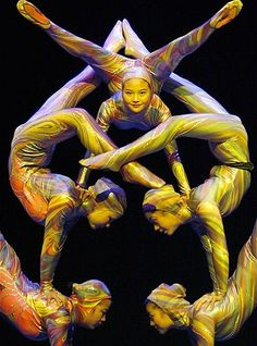 Contortionists of the Zunyi Acrobatic Troupe from the People's Republic of China perform in Madrid, Spain, in 2007.